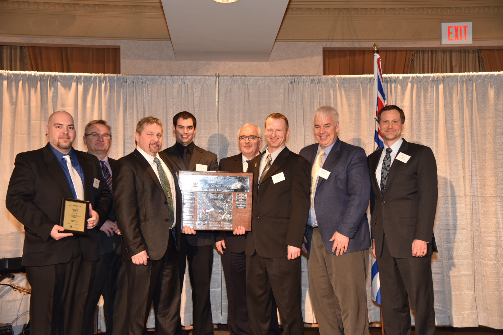 Gibraltar Mine - Presented by the Ministry of Energy and Mines, this prestigious award goes to the mining operation in British Columbia with the lowest injury-frequency rate that has worked at least one million hours during the year. This is the second year in a row that Gibraltar has been given this award, having worked over 1 million hours during 2015 with zero lost time accidents.